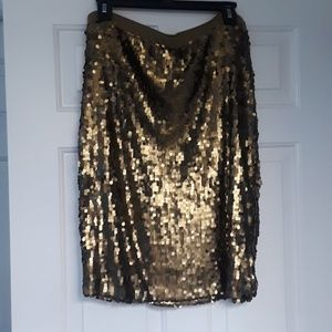 Sequin New York Company collection gold skirt